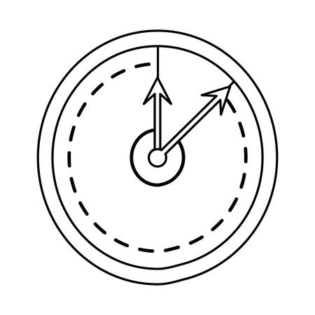 interval: isolated round clock icon vector illustration graphic design