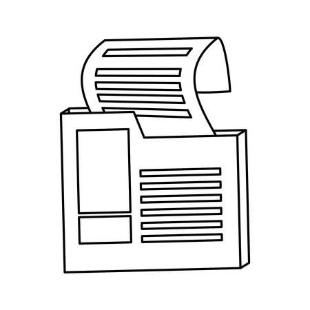 isolated receipts box icon vector illustration graphic design