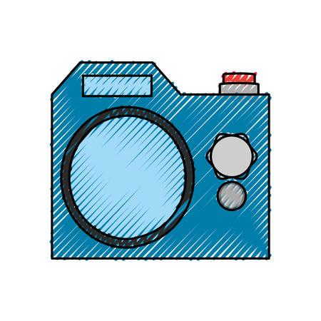 zoom: isolated cute camera icon vector illustration graphic design Illustration