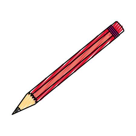 isolated study pencil icon vector illustration graphic design Illustration