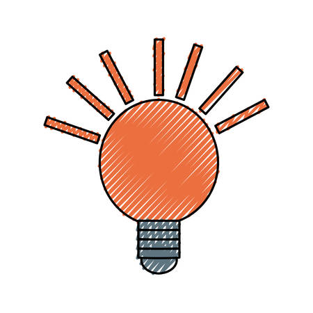 isolated energy bulb icon vector illustration graphic design Illustration