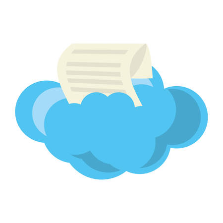 isolated big cloud icon vector illustration graphic design