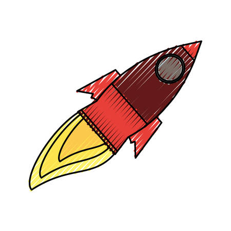 fly up: isolated big rocket icon vector illustration graphic design