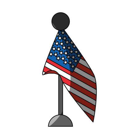 symbolics: United states flag symbol icon vector illustration graphic design