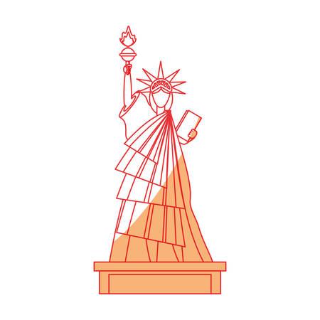 자유 아이콘 벡터 일러스트 그래픽 디자인의 동상