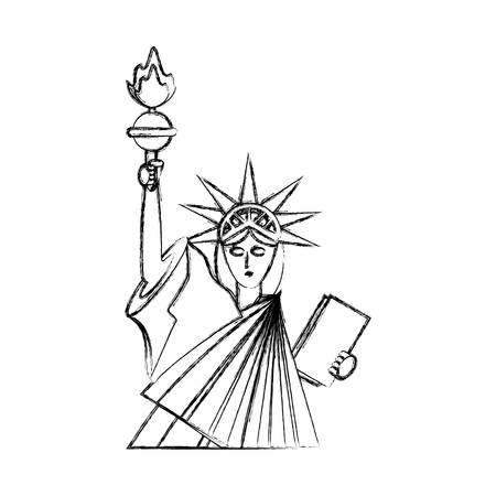 Statue of Freiheit Symbol Vektor-Illustration Grafik-Design Standard-Bild - 81015300
