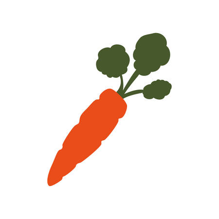 calorie: Carrot delicious vegetable icon vector illustration graphic design