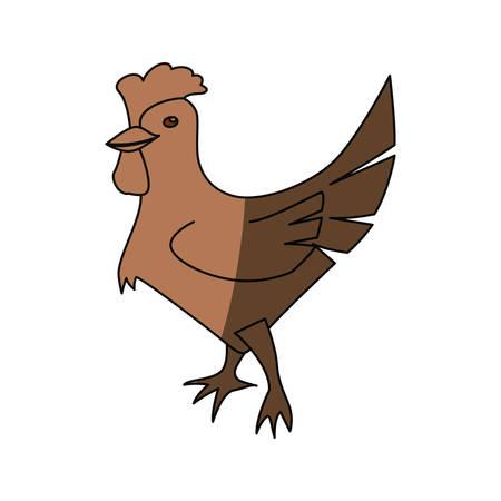 Rooster farm animal icon vector illustration graphic design Illustration