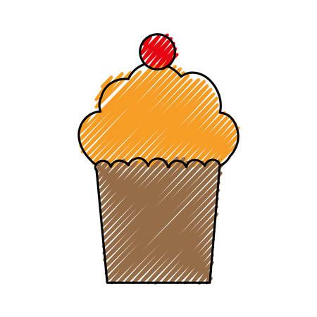 prepare: Delicious cupcake dessert icon vector illustration graphic design