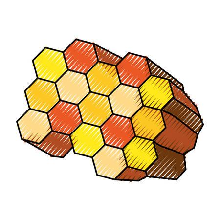 honeycomb cartoon icon vector illustration graphic design Illustration