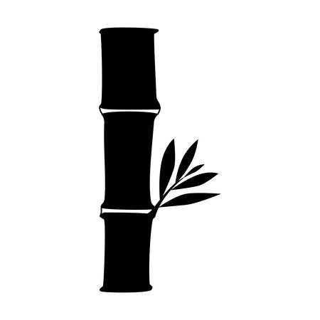 japanese garden: Bamboo asian tree icon vector illustration graphic design