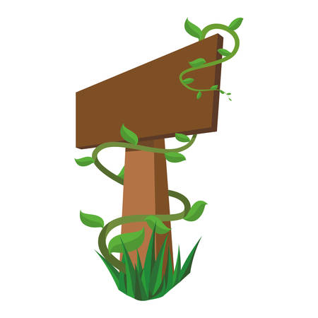 roadsign: Blank wooden signpost icon vector illustration graphic design Illustration