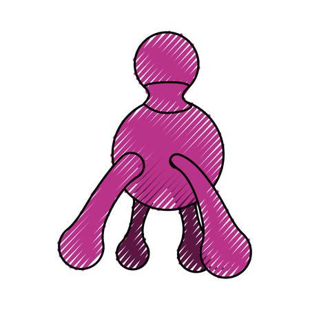 masseur: Body massager cartoon icon vector illustration graphic design