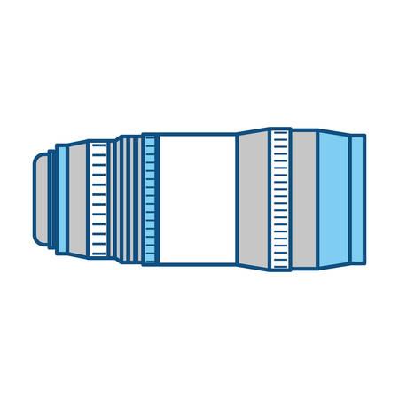 Professional camera len or shutter icon vector illustration graphic design Ilustração
