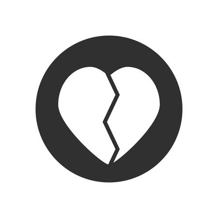 Heart broken symbol icon vector illustration graphic design Illustration