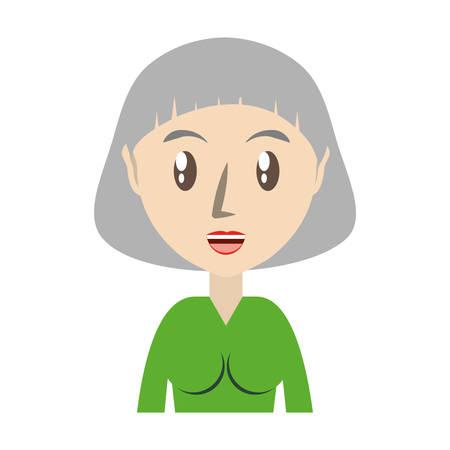 Cute grandmother cartoon icon vector illustrationgraphic design