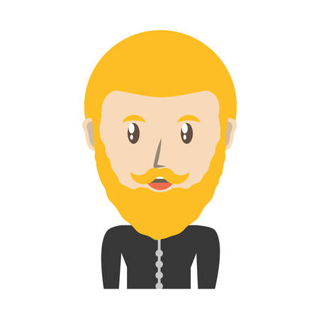 blondie: Young man cartoon icon vector illustrationgraphic design
