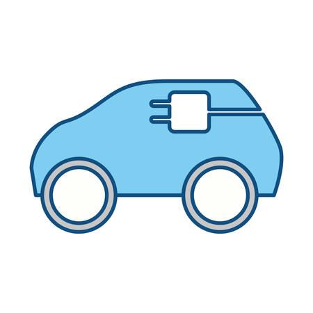 Electric car vehicle icon vector illustration graphic design