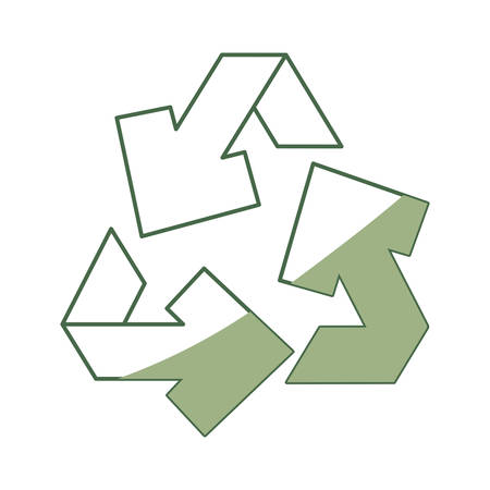 Recycle isolated symbol icon vector illustration graphic design