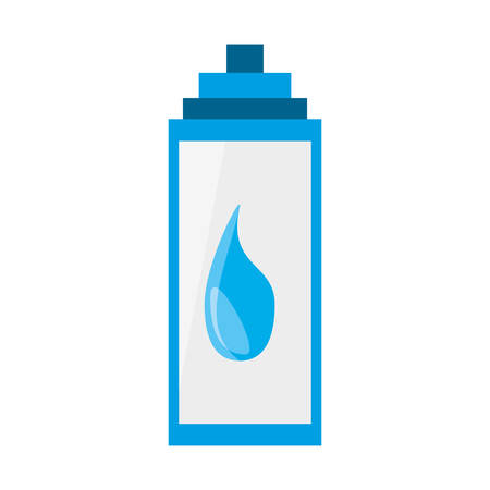 pure: Water thermo bottle icon vector illustration graphic design