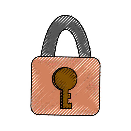 Security padlock isolated icon vector illustration graphic design