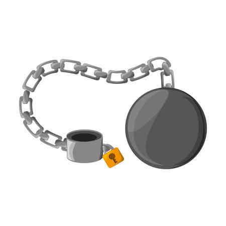 prison break: Slave chain isolated icon vector illustration graphic design