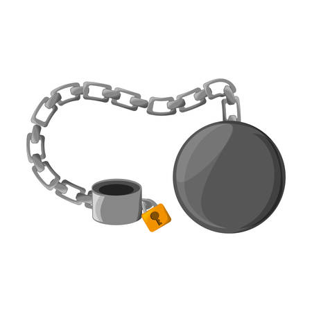 Slave chain isolated icon vector illustration graphic design