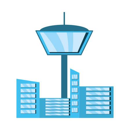 Urban building tower icon vector illustration graphic design