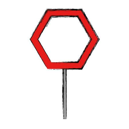 empty road sign icon vector illustration graphic design Illustration