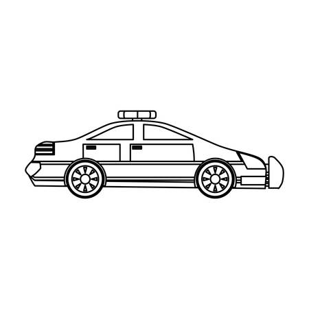 Police car isolated icon vector illustration graphic design
