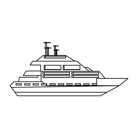 Luxury yacht isolated icon vector illustration graphic design Illustration
