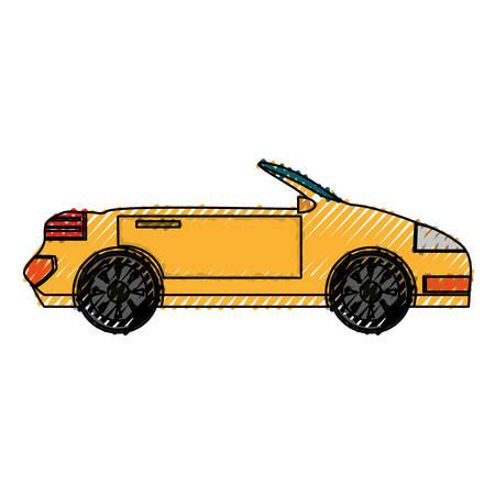 Convertible sport car icon vector illustration graphic design
