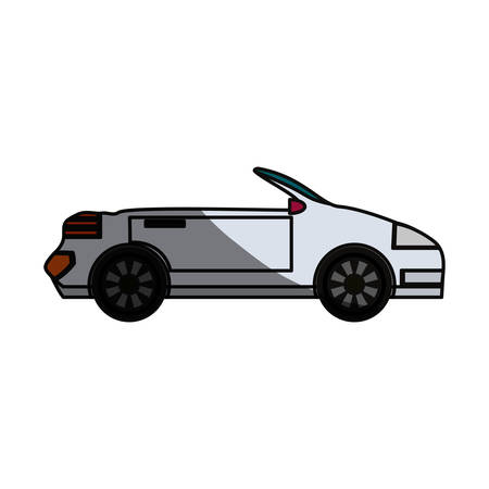 Convertible sport car icon vector illustration graphic design