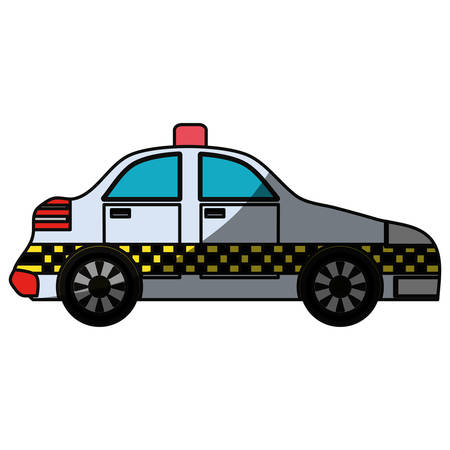 shadowed: Taxi cab vehicle icon vector illustration graphic design icon