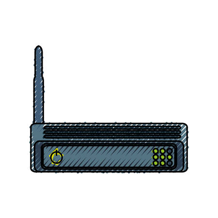 hub computer: Isolated wireless router icon vector illustration graphic design Illustration