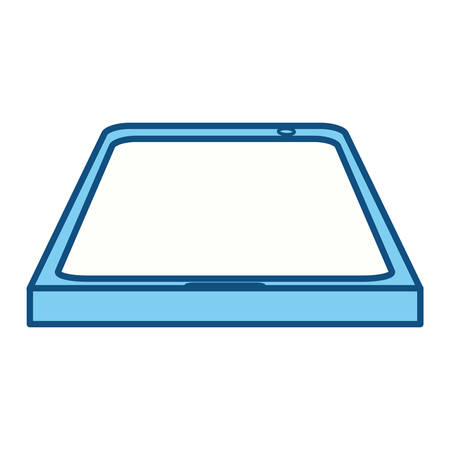 using smartphone: Isolated smart tablet icon vector illustration graphic design