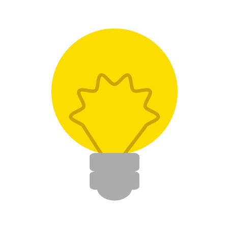 Isolated energy bulb icon vector illustration graphic design