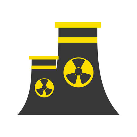 heavy construction: Isolated nuclear factory icon vector illustration graphic design