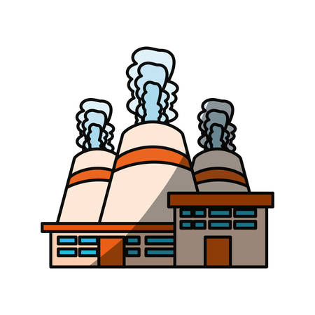 vector nuclear: Isolated nuclear factory icon vector illustration graphic design