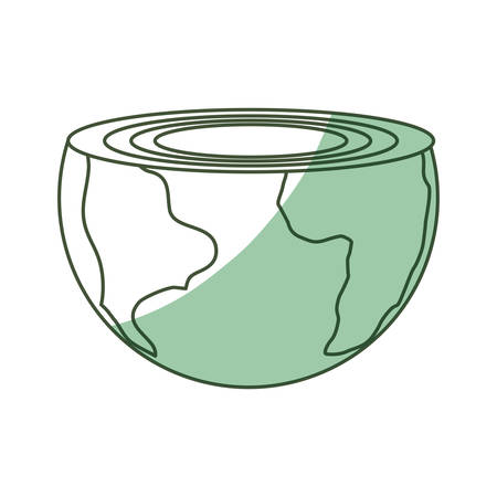 earth day: Isolated care of the planet icon vector illustration graphic design