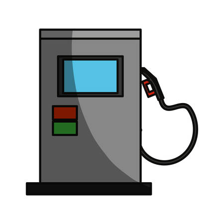 Isolated gas station machine icon vector illustration graphic design