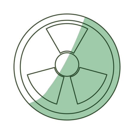 nuke: isolated nuclear symbol icon vector illustration graphic design
