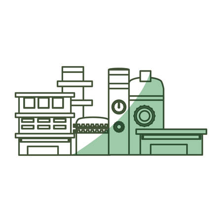 heavy construction: Isolated factory building icon vector illustration graphic design