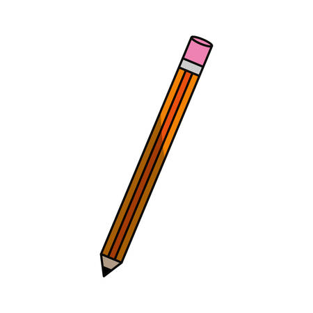 isoated study pencil icon vector illustration graphic design
