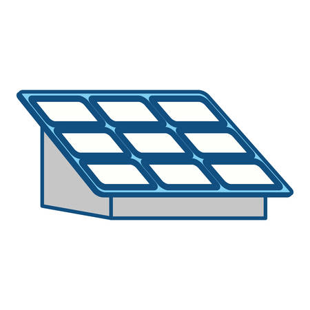 photovoltaic cell: isolated solar panel icon vector illustration graphic design