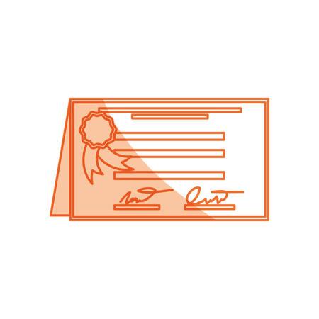 tassel: isolated diploma certificate icon vector illustration graphic design