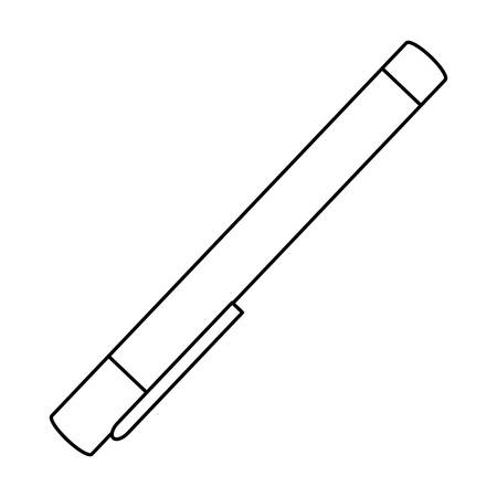 ballpoint: isolated study pen icon vector illustration graphic design