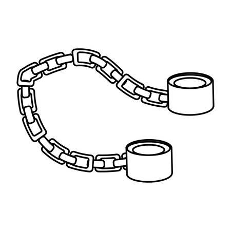 Slave chain isolated icon vector illustration graphic design