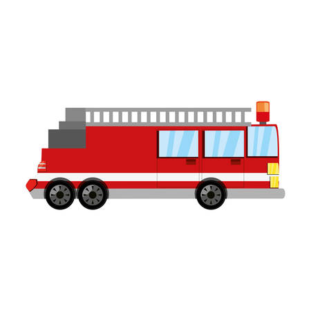 emergency engine: Firefigther truck vehicle icon vector illustration graphic design
