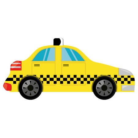 Taxi cab vehicle icon vector illustration graphic design Illustration